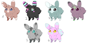 Adoptables  #1 (closed) by Raisinghellx