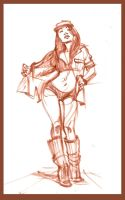 costume quick sketch of tiffany by BADARTHELPCENTER