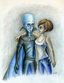 Megamind and Roxanne by SuslikD