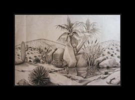 Desert drawing by deviantmike423