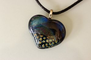 Dichroic Heart in mixed patterns by Dimolicious