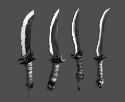 Assassin Blade Concepts by Baranha
