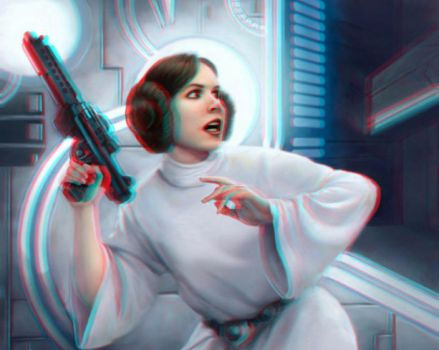 Leia 3-D by MVRamsey