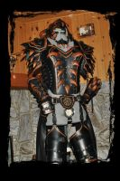 leather female armor by Lagueuse