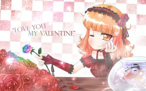 Love you my Valentine by Porforever