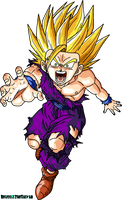 Super Saiyan 2 Teen Gohan by BrusselTheSaiyan