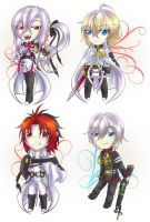 Seraph of the End - chibis by KinglyMS