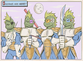 TEENAGE MUTANT SAIYA TURTLES by paintmarvels