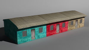 African 3 Colors houses by Krayzieee