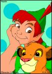 Peter Pan and Simba by Skippydippi