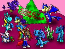 My Neopets Christmas Groupshot by papersak