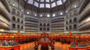 Inside State Library by dzign-art