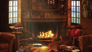 Pottermore Background - Gryffindor Common Room 2 by xxtayce