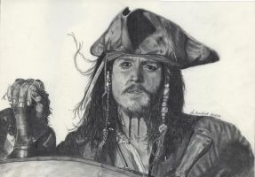 Jack Sparrow by WitchiArt