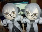 2 Doctor Stein Plushies (Last 2) by TashaAkaTachi