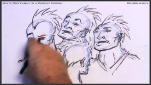 Learn to draw characters in different positions 26 by drawingcourse