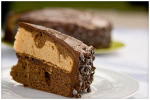Chocolate Peanut butter Cake by duros