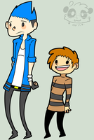 Mordecai and Rigby .:Human:. by EvilPandaGrl