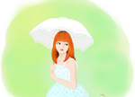 spring dress and umbrella by A-iker