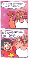 hot dogs and perfect porkchops by dandeliar