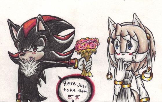 Shadow and Zoey Flowers for you by IceAngel12