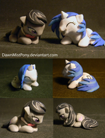 Octavia and Vinyl sculpts. by DawnMistPony