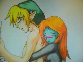 Link and Midna Sneak Peek by DREVTHAM