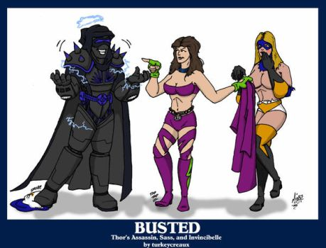 Busted - Commission by turkeycreaux