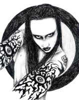 manson charcoal1 by sugarkoma