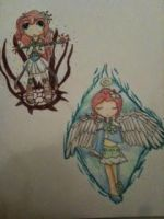 AT: Azaillia battle (mage) and Azaillia (angel) by Toxictherabit