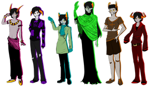 Homestuck - The Boys by Hieislittlekitsune