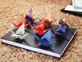 Origami Cranes by aiaoicho