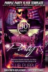 PSD Purple Party Flyer by retinathemes