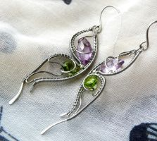 Wings - earrings by katerinela