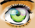 Eyeball (Digital practice) by AlyssaFoxAH