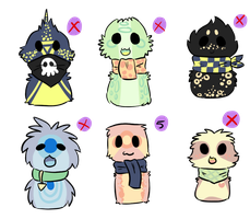 More Scarfblob Adopts - ONE LEFT by joaniek