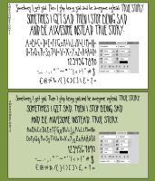 Awesome fonts by El1anora