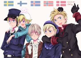 Nordics YAY by ElleNyan