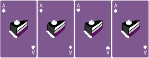 Ace Deck 59: Cake+Violet+White by Galadnilien