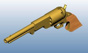 Golden Colt Revolver by MWMalcolm