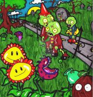 Plants Vs Zombies by DancingCorpse1000