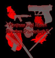 Weapon and Heart Brushes PS7 by Forbidden-Stock