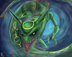 .:Legendary Rayquaza:. by Rufinator