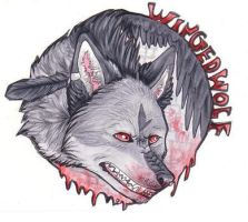 WingedWolf Badge by JustRach