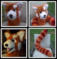 Red Panda head and tail by Plus3Defense
