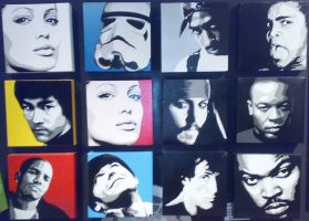 Celebrity Canvases by messymedia