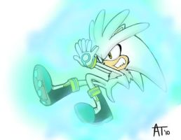 Silver The Hedgehog by Blazestar39503