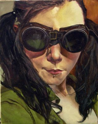 Self-portrait with goggles by tetriselemental