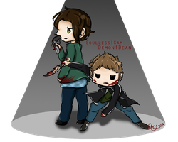 Demon!Dean and Soulless!Sam - Hunters by belle2908