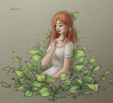 Alone with nature (digital) by natalico